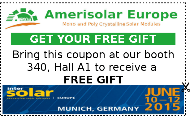 Intersolar-Europe-2015-Amerisolar-coupon Intersolar Europe 2015: 10th - 12th June News