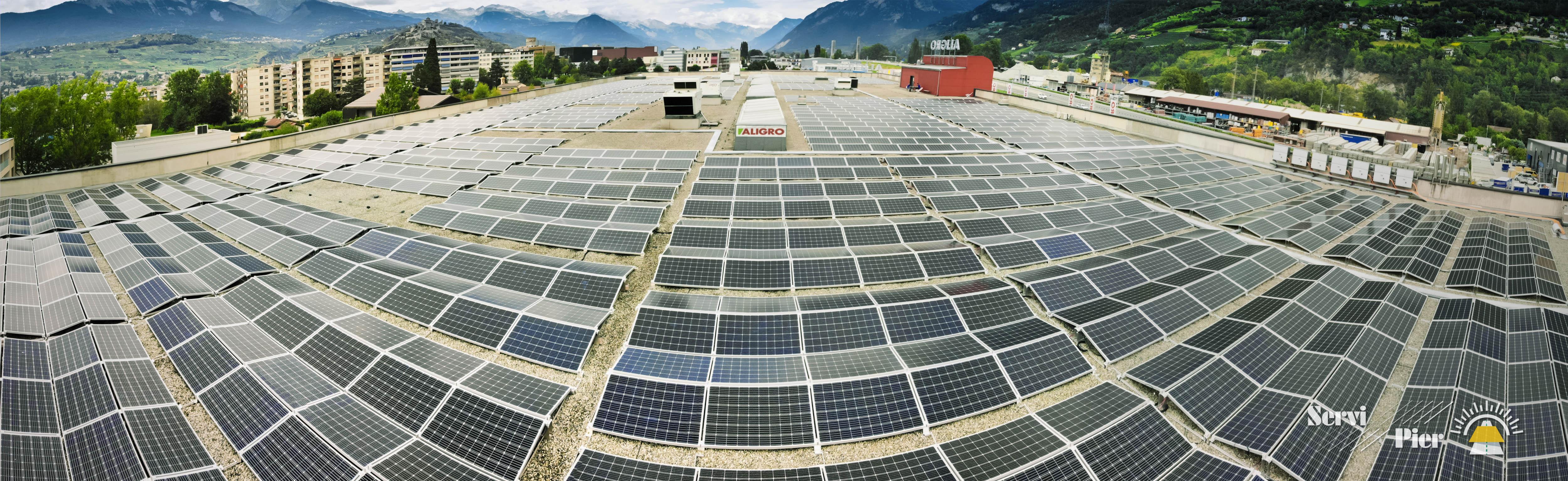 servipier-centrale-solaire-aligro-sion-panorama-logo-web-01 4'500 solar modules mono 290W in Switzerland